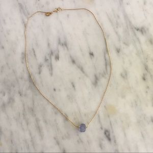 Marida Itty Bitty gold filled amethyst necklace
